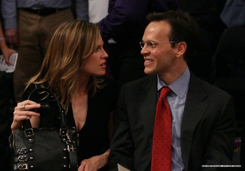 Hilary Swank: Lakers Game with John Campisi!