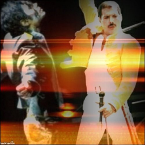 Michael and Freddie Mercury
