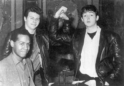 Paul McCartney, Pete Best, & Emile Ford