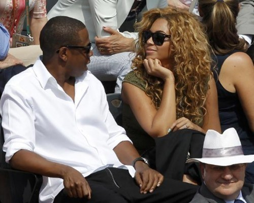Beyoncé and Jay Z at the French Open (June 6)