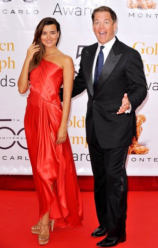 Cote de Pablo and Michael Weatherly at 2010 Monte Carlo Televisyen Festival Closing Ceremony