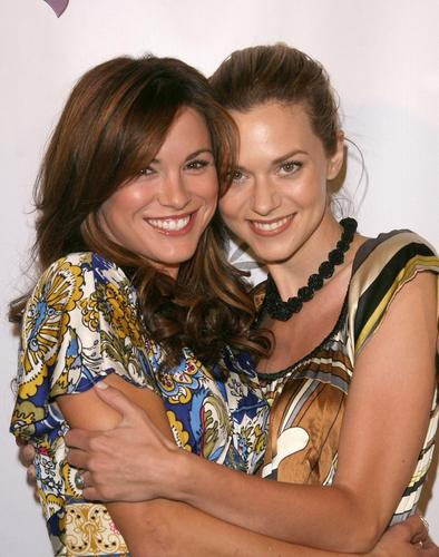 Danneel and Hilarie Burton
