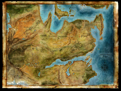 Map of Thedas