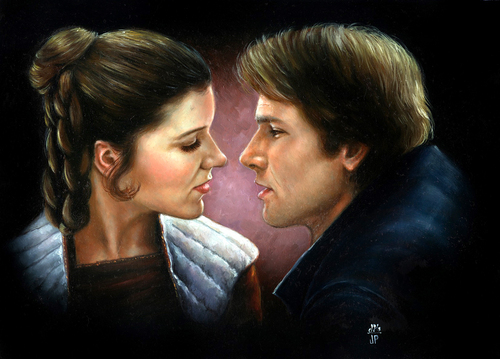 Han Solo and Leia
