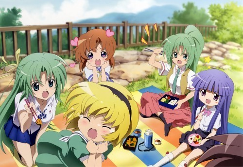 Shion, Satoko, Rena, Mion and Rika