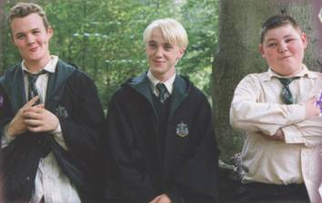 Draco Malfoy, Crabbe, and Goyle