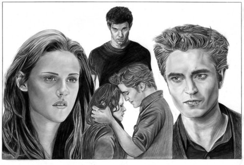 Jacob, Edward and Bella