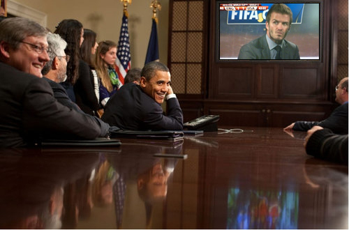 Obama Watches England vs USA