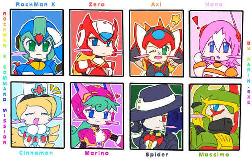 megaman x command mission chariters