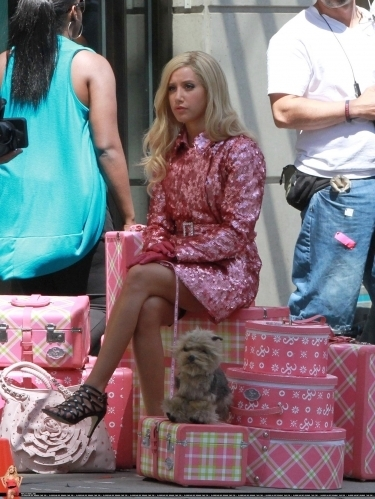 "Ashley on set ""Sharpays Fabulous Adventure"""
