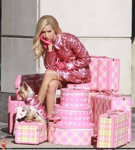 "Ashley on set of ""Sharpay's Fabulous Adventure"" June 20th,2010"