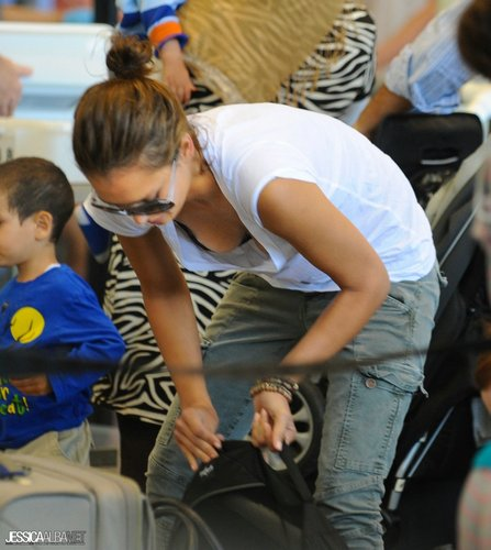 Jessica Alba and Honor at LAX Airport – June 21