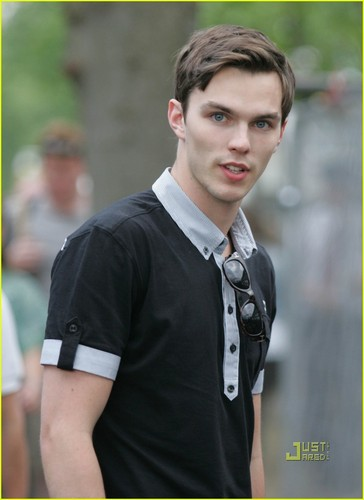 Nicholas Hoult at London's All England Tennis Club