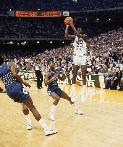 Jordan's Championship winning shot as a North Carolina Tar Heel