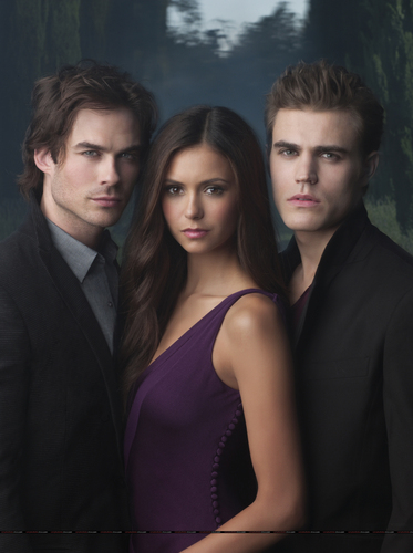 Stefan , Elena and Damon