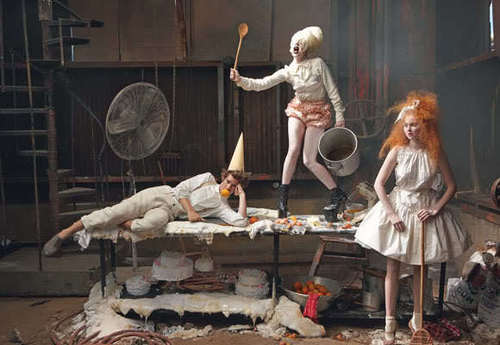 "Andrew Garfield, Lily Cole & Lady GaGa - ""VOGUE UK"" 2009"