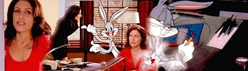 Cuddy and Bugs Bunny