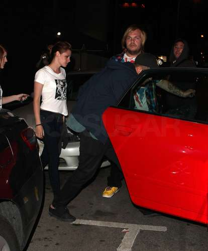 Rob and Kristen leaving Sam's concert last night
