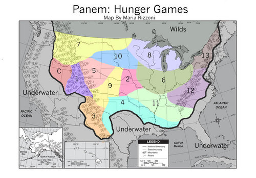 Hunger Games - Map of Panem