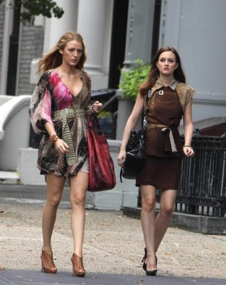 Leighton and Blake on set 14th July Season 4