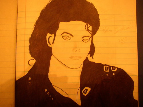 My Mj bad era Drawing