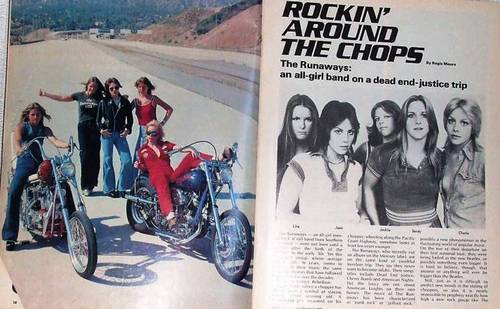 The Runaways in 'Choppers' Magazine - October 1976
