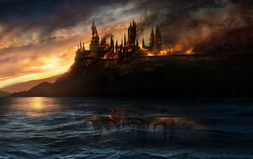 Hogwarts on fuoco