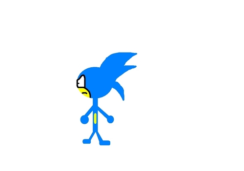 Sonic as a stick figure