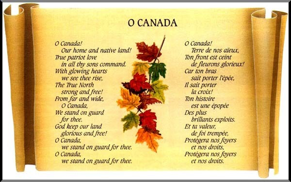 Official Lyrics of O Canada (in English and French)