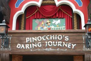 The pinocchio ride in fantsy land