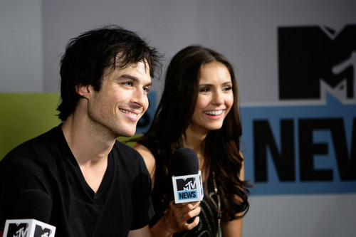 Ian & Nina @ MySpace And mtv Tower During Comic-Con 2010