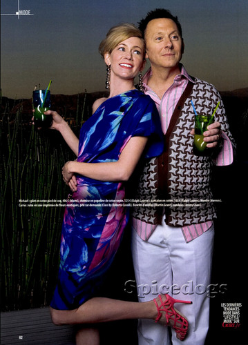 SCANS - Michael Emerson & Carrie Preston en Gala Magazine
