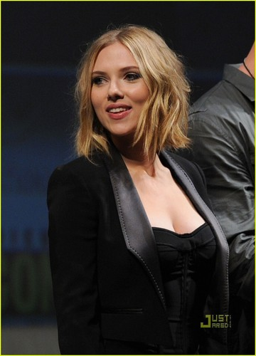 Scarlett Johansson Makes Her Mark At Comic-Con