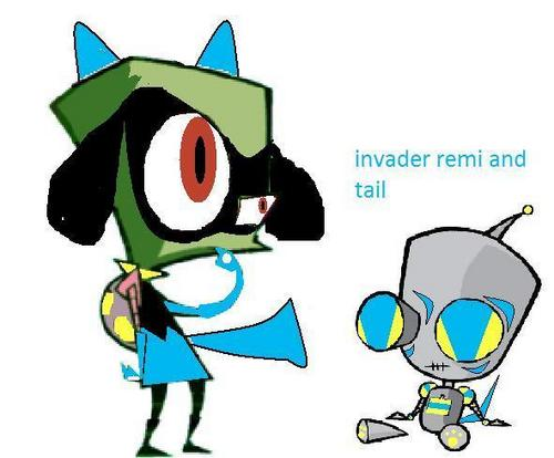 invader remi and tail