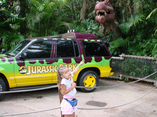 jurasic park ride entrence
