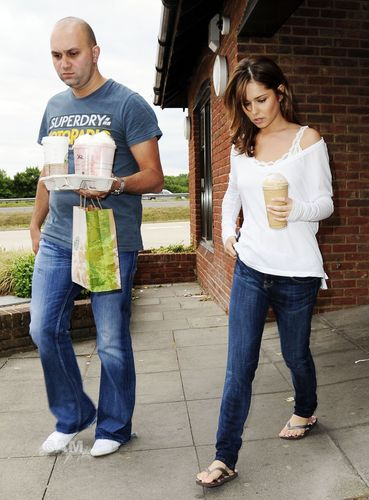 Cheryl Cole at starbucks in Surrey (July 28)
