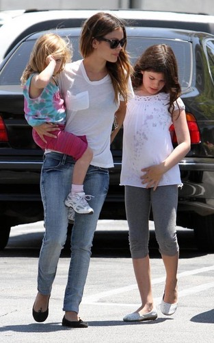 Rachel Bilson out with family in LA (July 28).