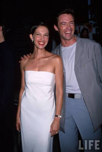 "Ashley Judd and Hugh Jackman at the Film Premiere of ""X-Men"""