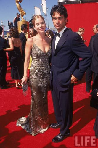 Dating Actors Christina Applegate and Jonathan Schaech at the 50th Annual Emmy Awards
