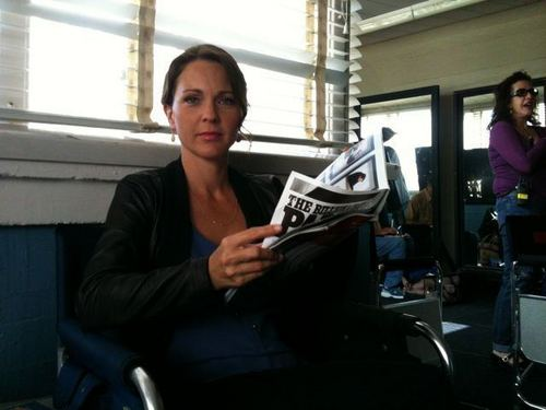 Kelli Williams between takes on the set of LTM ep 302.