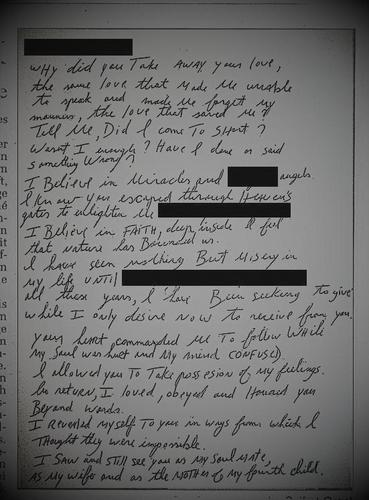 MJ - very touching letter