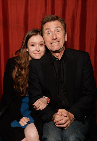 Tim Roth & Haley McFarland in the TV Guide TCA Booth 2010