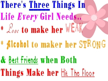 3 things every girl needs