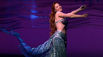 Ariel coming out on stage