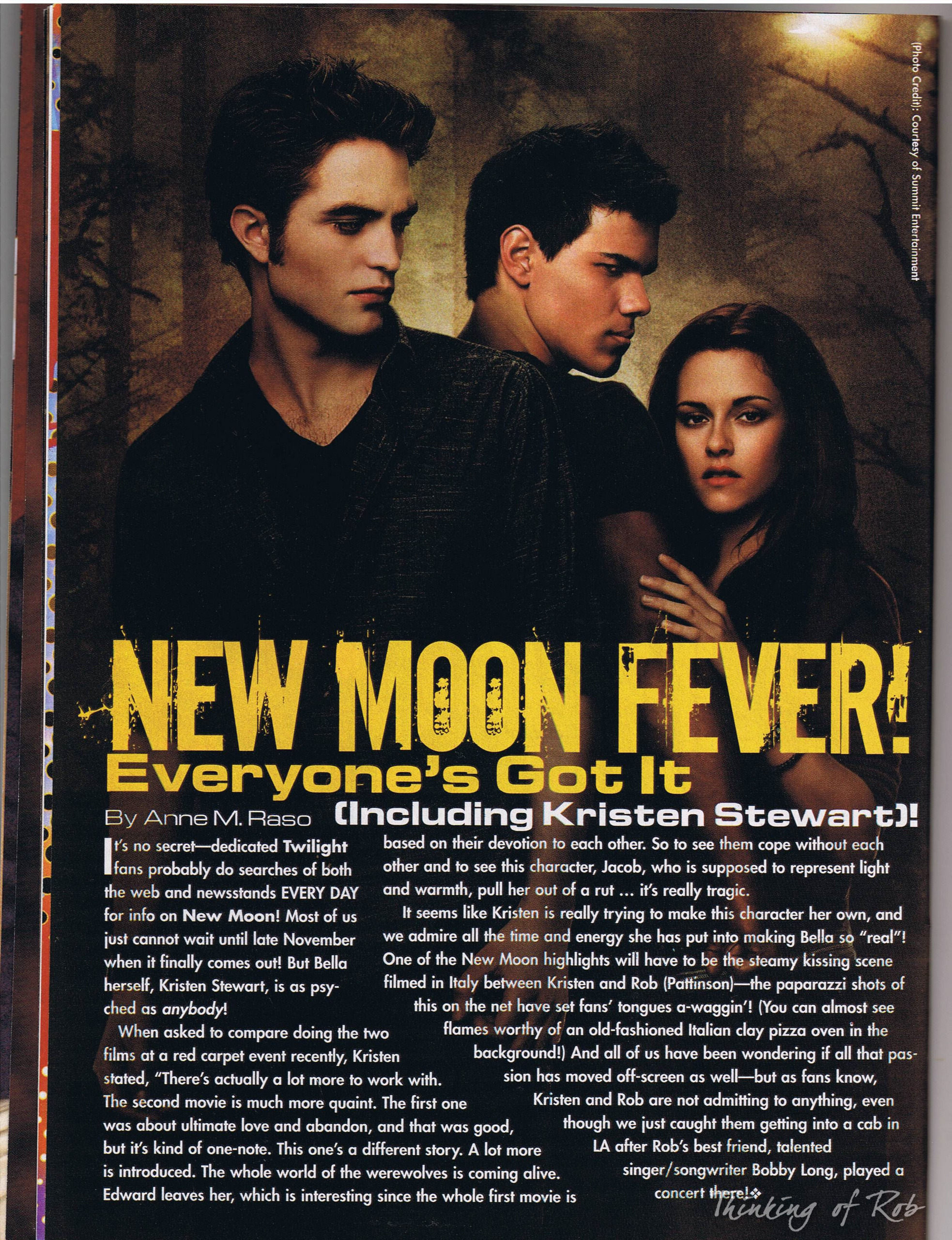 Robert Pattinson and New Moon Cast In Faces Magazine