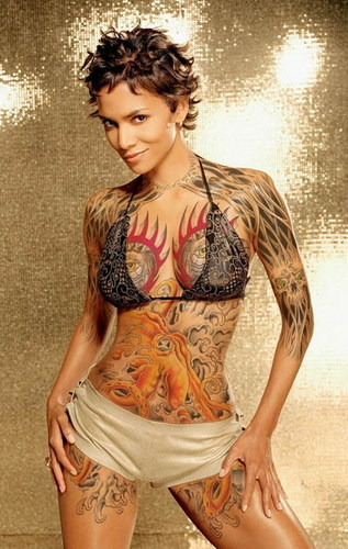 Halle Berry on tatoos