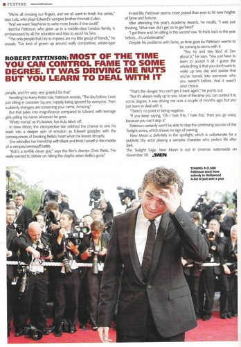 Robert Pattinson and New Moon in The Irish Daily 星, 星级 Sunday