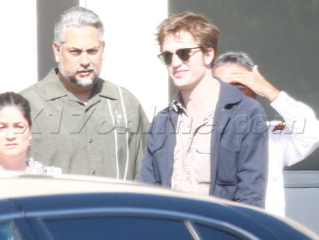 Rob, Kristen and Taylor at a studio today