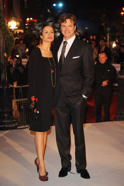 Colin Firth arriving at A Christmas Carol premiere in London