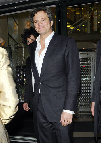 Colin Firth at The Ivy